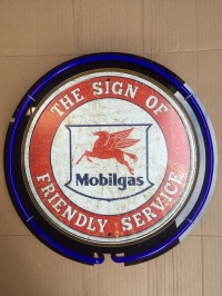 mobil gas vintage neon sign