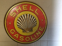 shell fuel tin sign